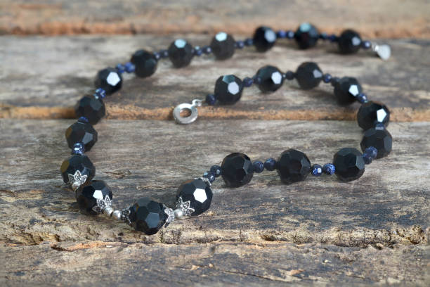 Collier noir Onyx perle Fine Jewelry - Photo