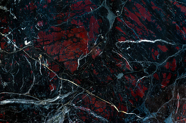 Black onyx with red spots texture - Photo