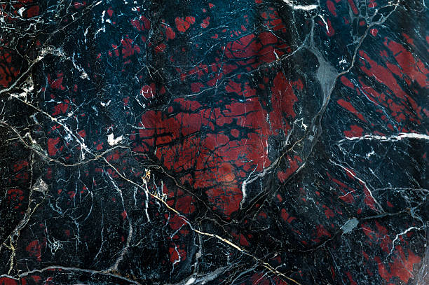 Black onyx with red spots texture – Foto
