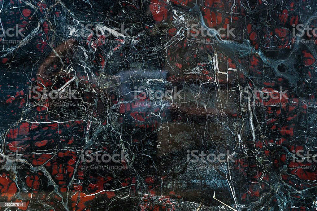 Black onyx with red spots texture stock photo