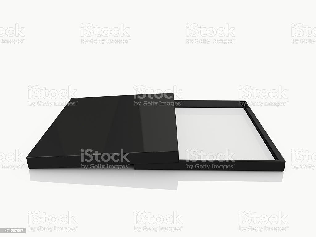 Black Open Rectangle Gift Box royalty-free stock photo