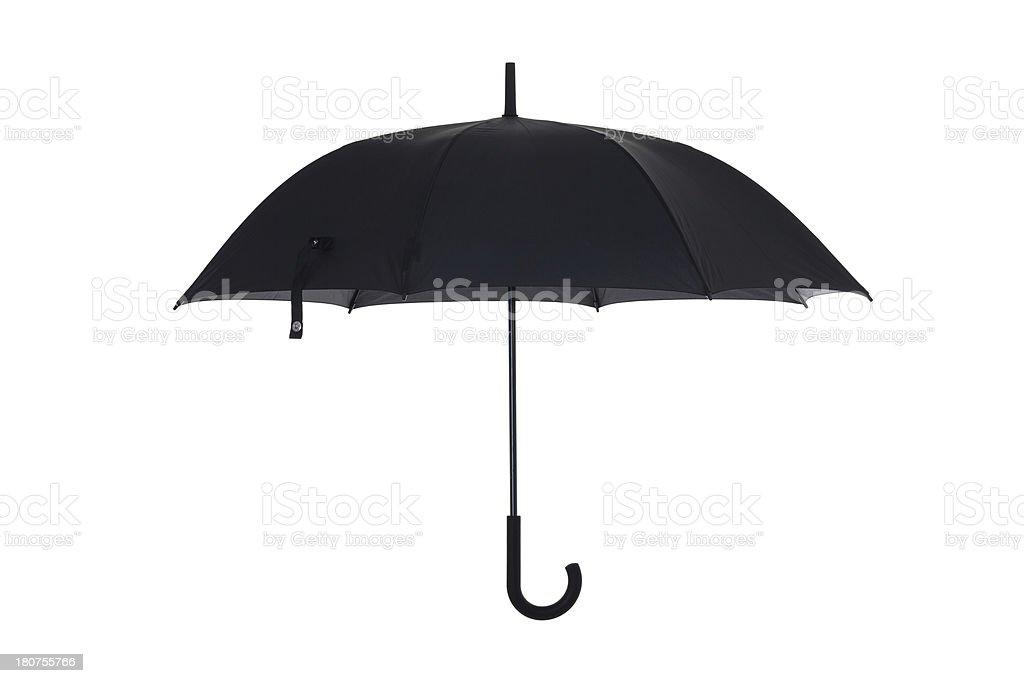 Black open umbrella royalty-free stock photo