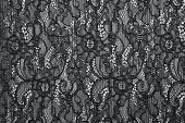Black openwork lace background texture