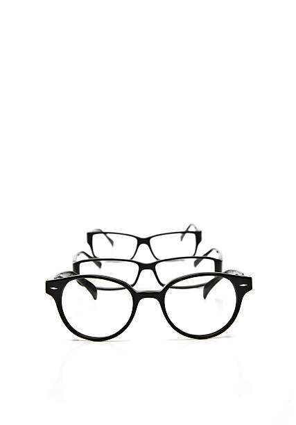 black optical frames - sale lenses stock photos and pictures