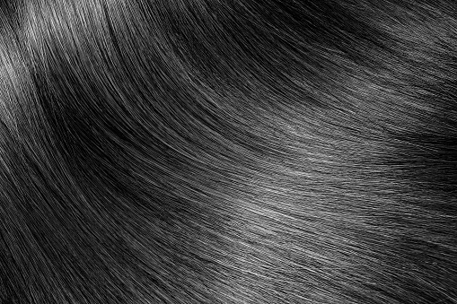 Black Or Brunette Shiny Hair Texture Background Stock ...