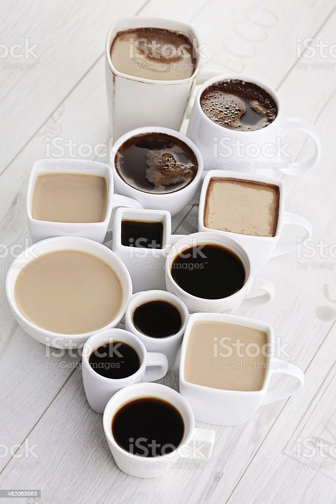 black or white coffee royalty-free stock photo
