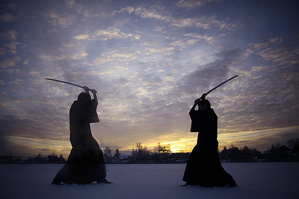 Negros oriental artes marciales warrior invierno de capacitación - foto de stock
