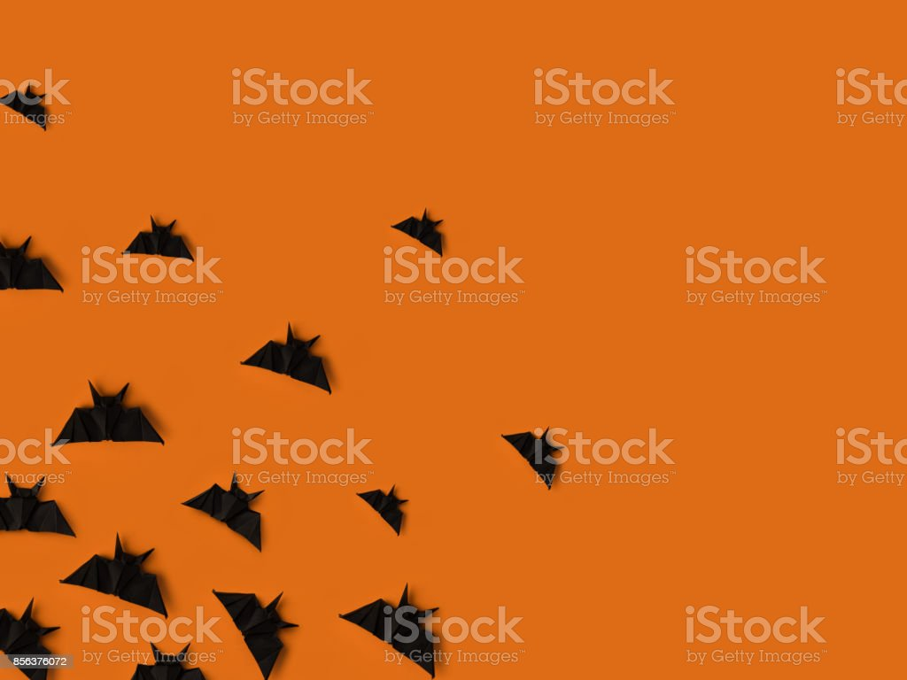 black origami bats stock photo