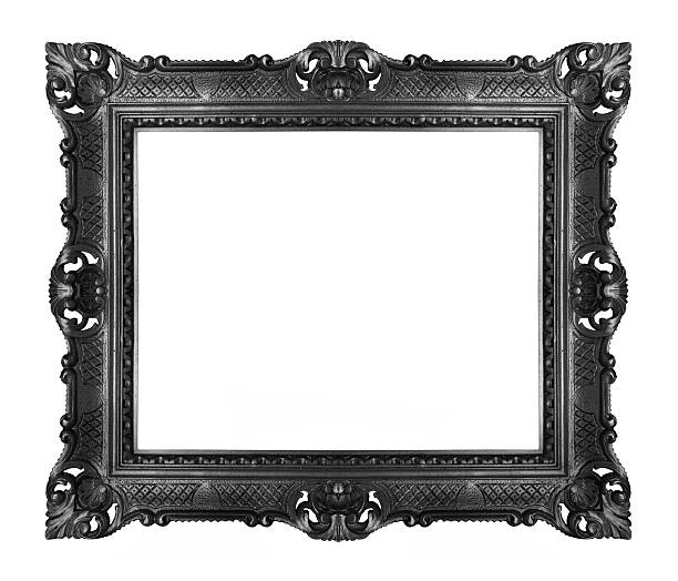 black ornate frame - gothic style stock pictures, royalty-free photos & images
