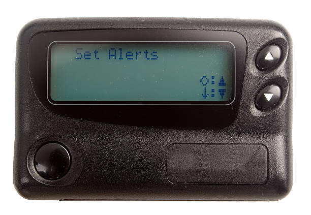 Black Pager isolated on white stock photo