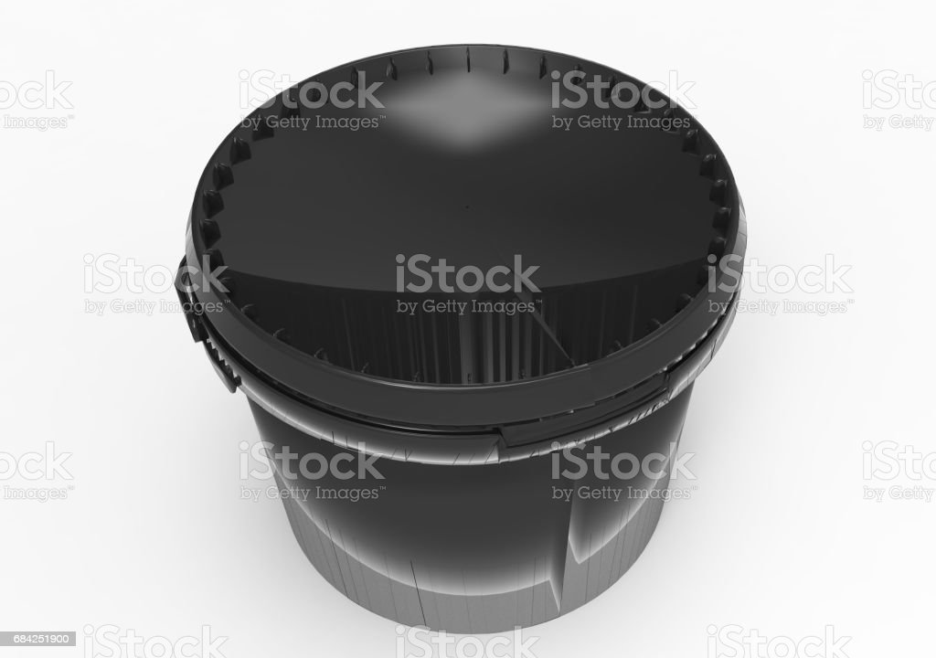 black  paint box packaging royalty-free stock photo