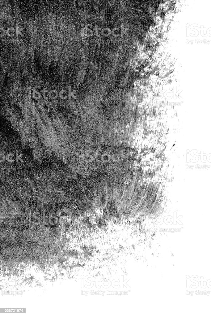 Black paint on a white background stock photo