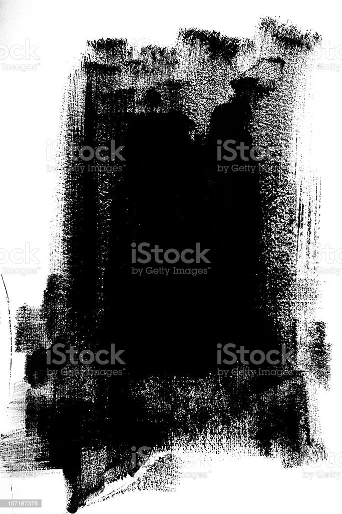 Black Paint royalty-free stock photo