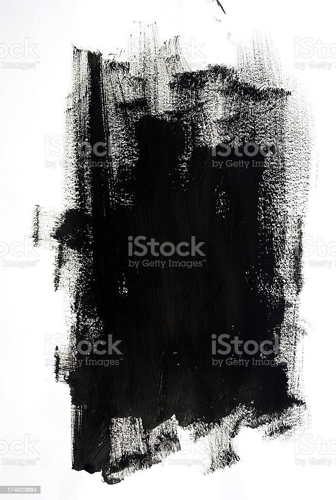 Black Paint royalty-free stock photo