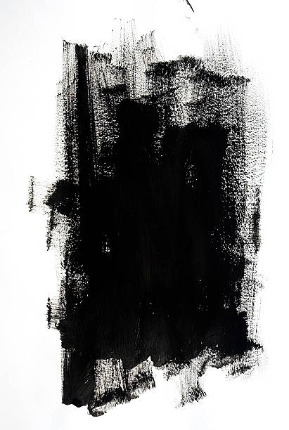 Black Paint Black Paint brush stroke stock pictures, royalty-free photos & images