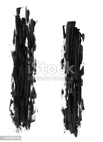 istock Black paint strokes isolated on a white background 1133995168