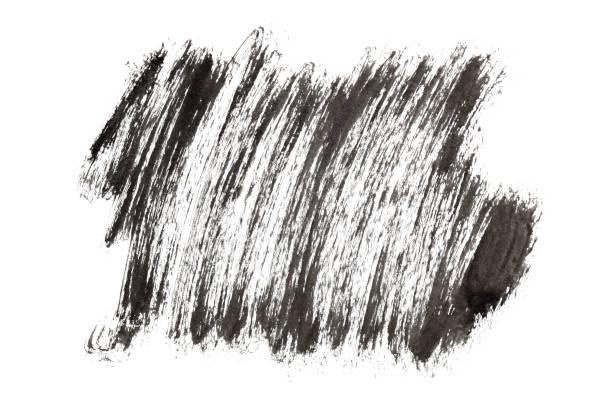 Black paint strokes stock photo