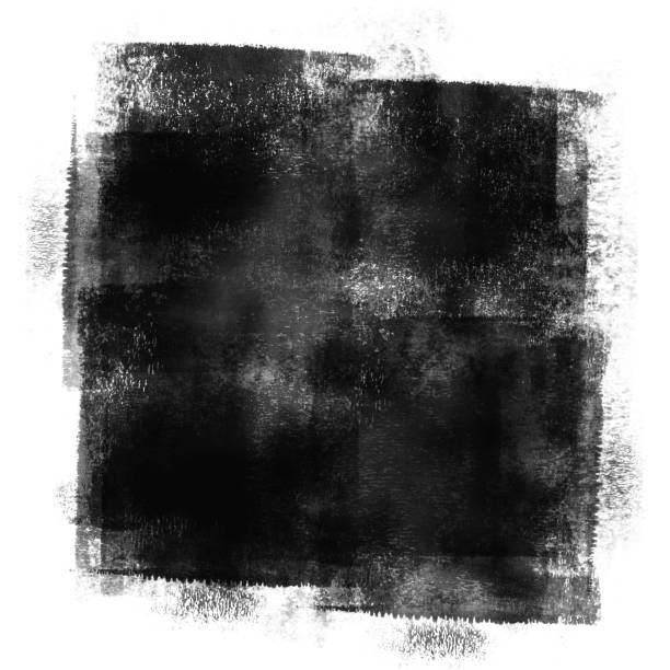 Black Painted Grunge Texture stock photo
