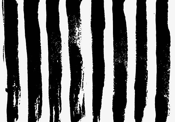 Black painted stripes stock photo