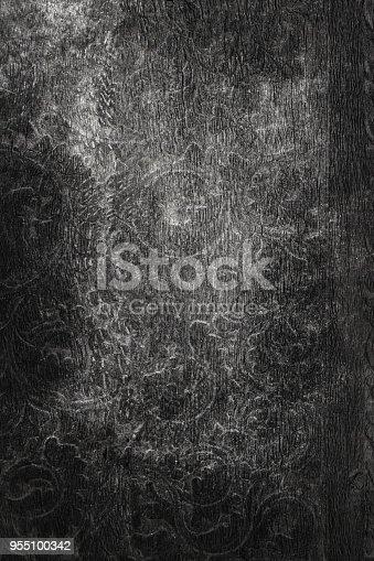 693317332istockphoto Black painted wooden texture 955100342