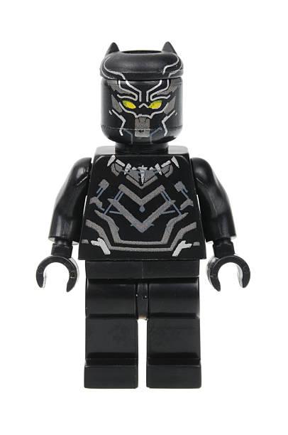 black panther lego minifigure - svart leopard bildbanksfoton och bilder