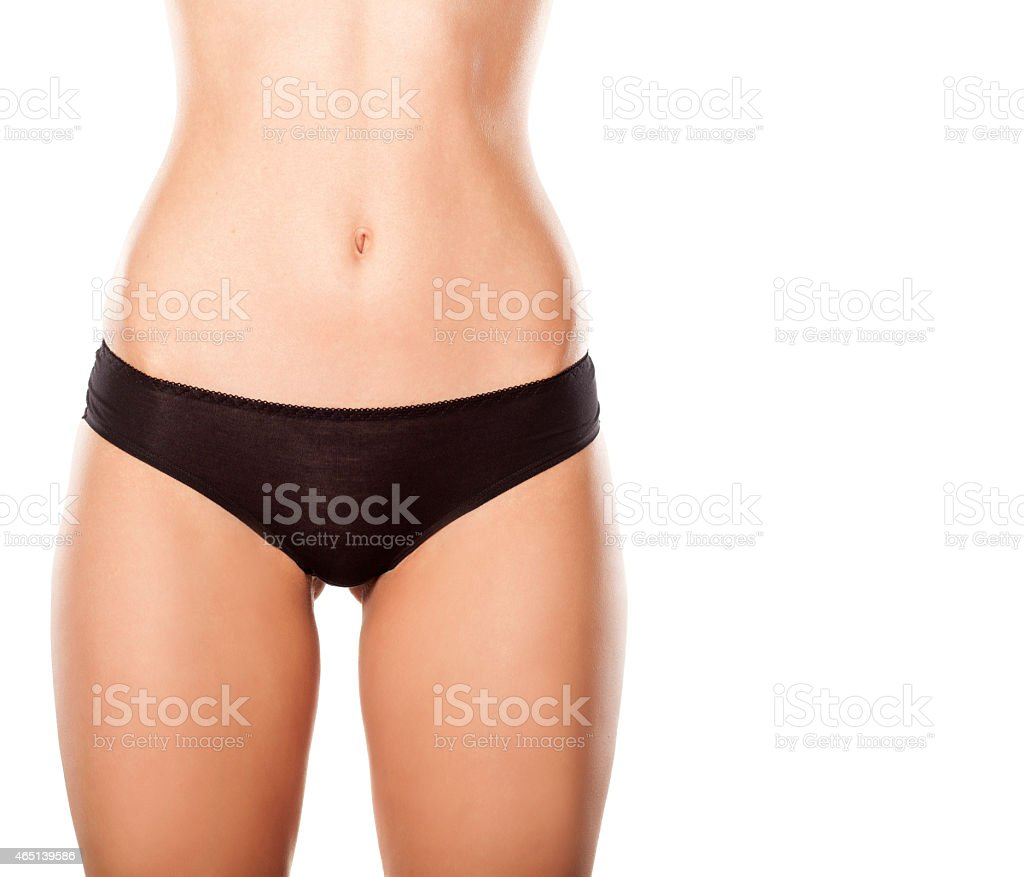 Black Panties On Nice Hips And A Narrow Waist Stock Photo -7960