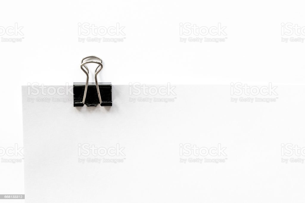 Black Paper clip (Binder) stock photo