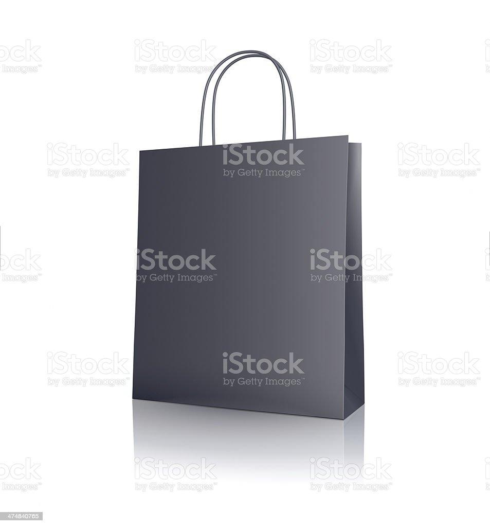 Schwarzes Papier-Einkaufstasche – Foto