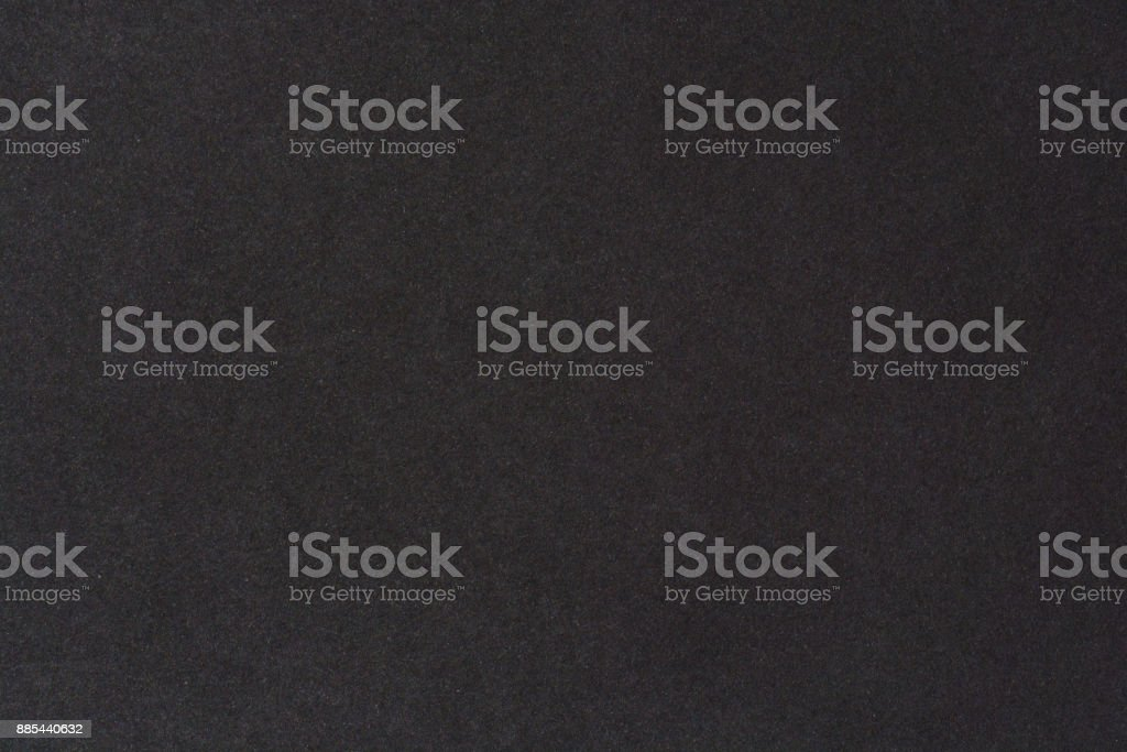 Black paper texture background. Black blank cotton paper page stock photo