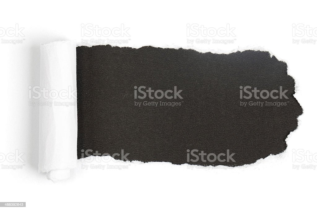 Black Paper Torn stock photo