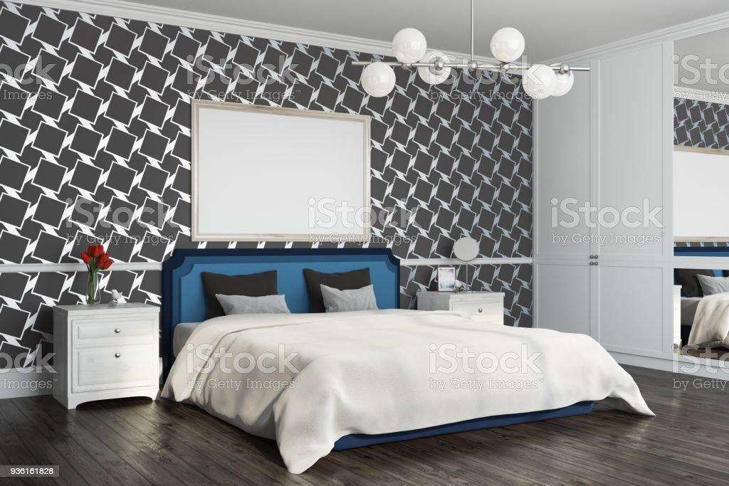 Schwarze Muster Schlafzimmer Ecke Poster Stockfoto und mehr ...