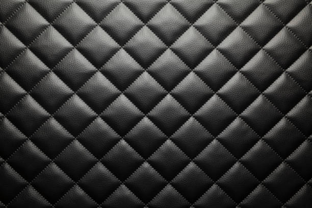 black patterned leather background or texture - couro imagens e fotografias de stock