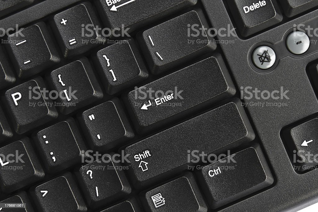 Black pc keyboard royalty-free stock photo