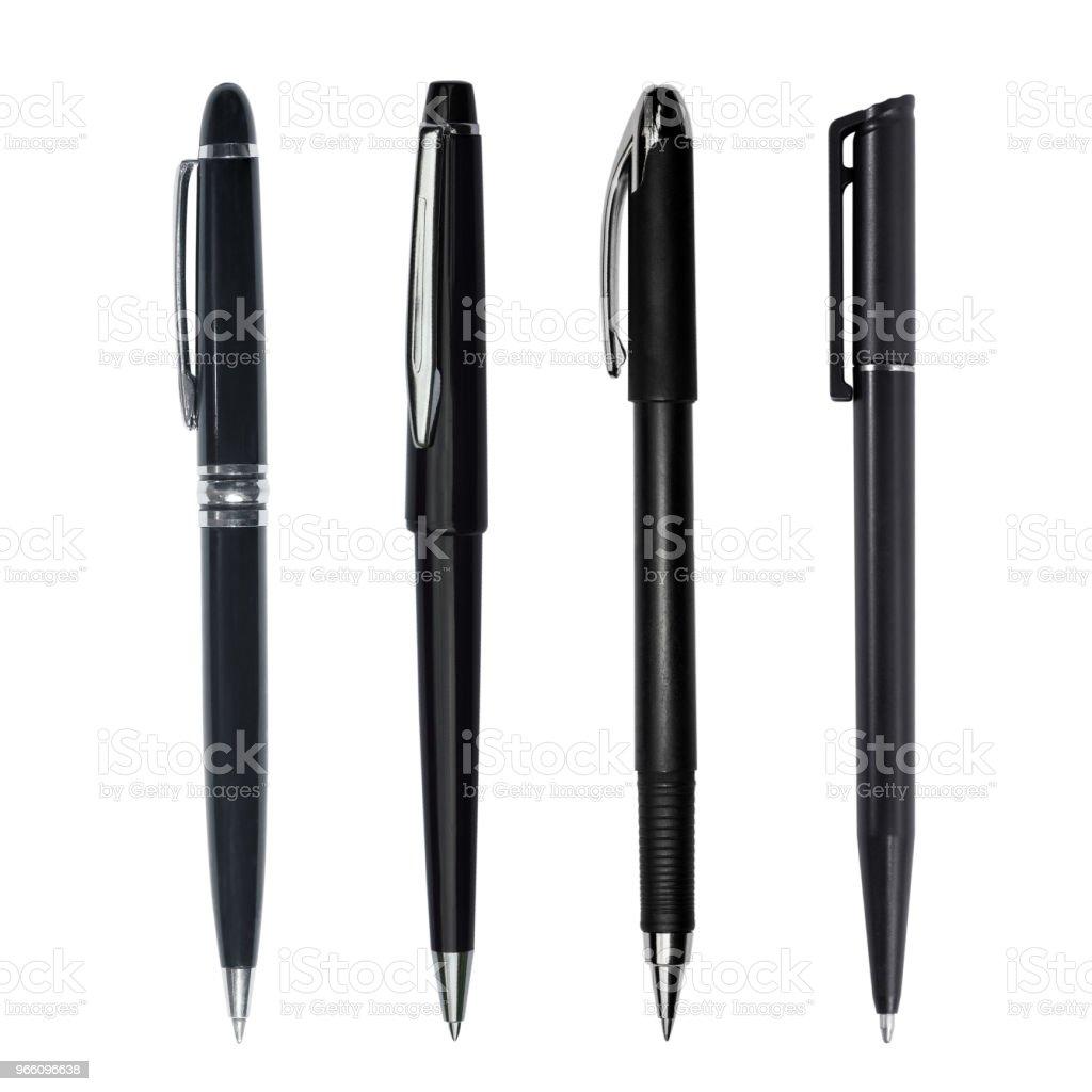 Svart penna isolerad på vit bakgrund - Royaltyfri Blyertspenna Bildbanksbilder
