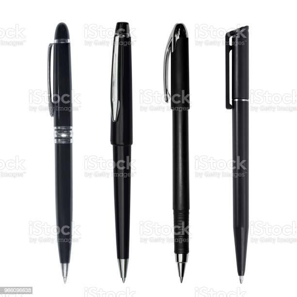 Svart Penna Isolerad På Vit Bakgrund-foton och fler bilder på Blyertspenna