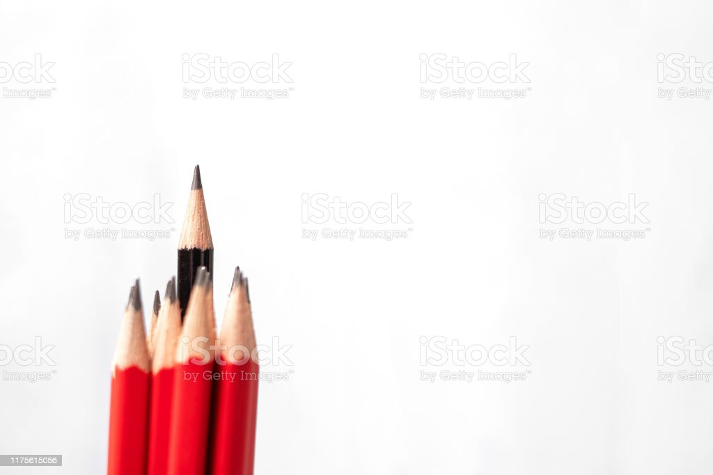 https www istockphoto com photo black pencil different from crowd of red pencils unique leader strategy independence gm1175615056 327435676