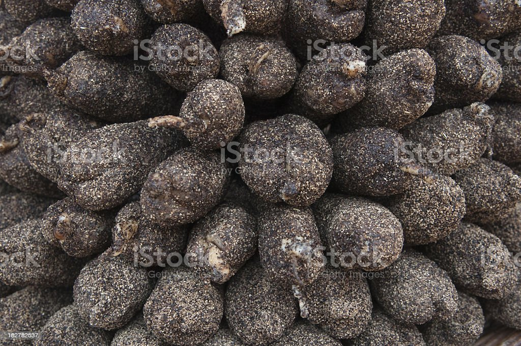 Black pepper french sausages royalty-free stock photo