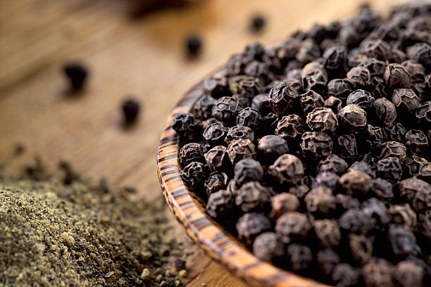black pepper - tane biber stok fotoğraflar ve resimler