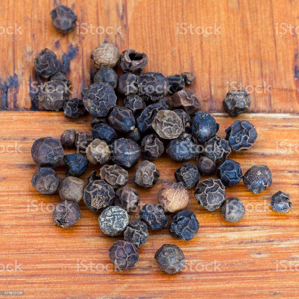 black pepper seeds royalty-free stock photo