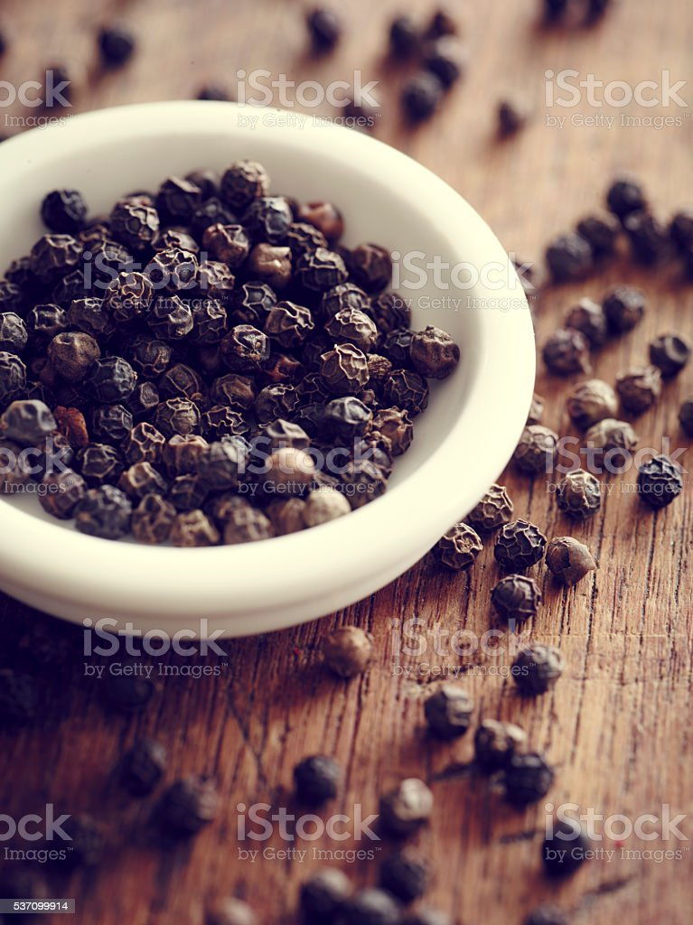 Black Peppercorns stock photo