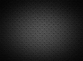 Black Perforated Leather Texture with Light Spot as Natural Background