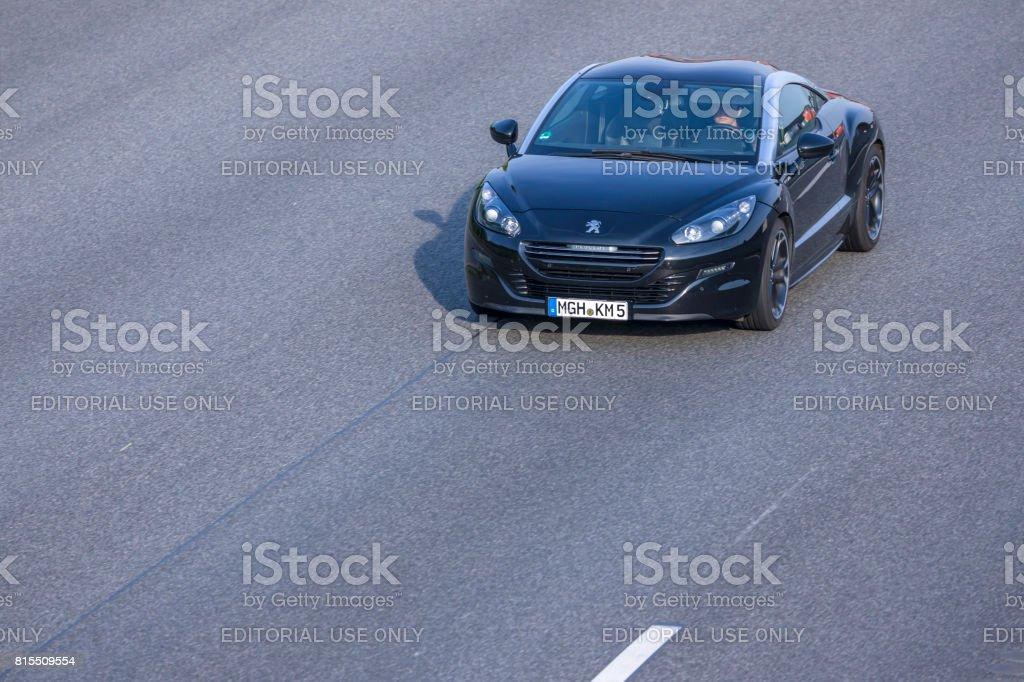 Photo Libre De Droit De Voiture De Sport Noir Peugeot Rcz Sur Une
