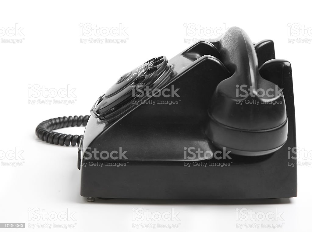Black phone side view royalty-free stock photo