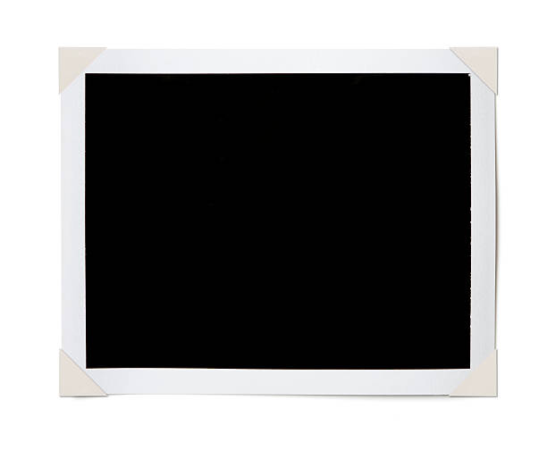 black photo corners - photo corner stock photos and pictures