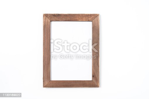 black photo frame on white background