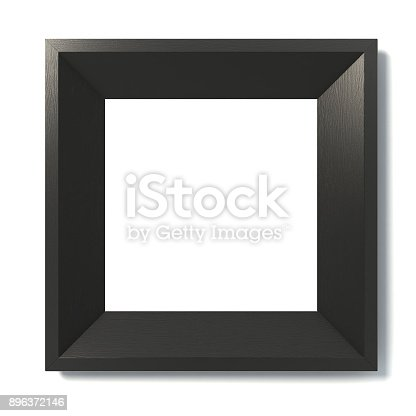istock Black picture frame 3d isolated illustration 896372146