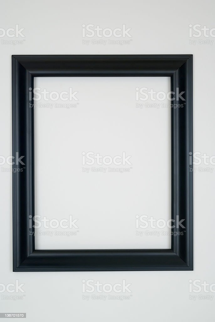 Black Picture Frame, White Background stock photo