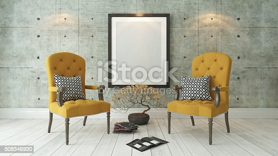 istock black picture frames with double yellow bergere 508346930