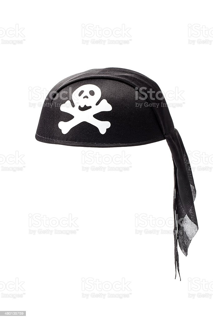 Black Pirate Hat with Tipical Sign stock photo