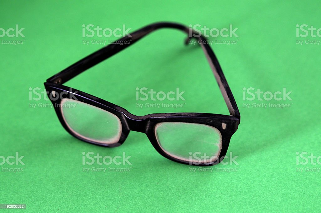 Black Plastic Glasses stock photo